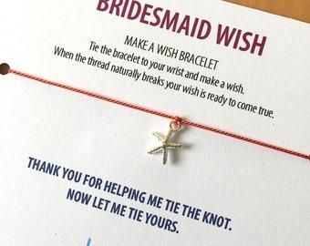 BRIDESMAID wish >> silver starfish