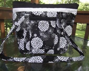Black n White Handmade Machie Quilted  Purse