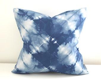 20x20 inch Marine Navy Shibori Pillow Cover