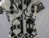 Ebony and Ivory Short Sleeve Shirt Size  Large