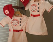 Children's 6 Panel Adjustable Ball Cap and CUSTOM LETTER Iron-On Patch by Messy Kids Designs