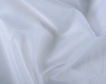 "45"" Wide 100% Silk Organza White by the yard"