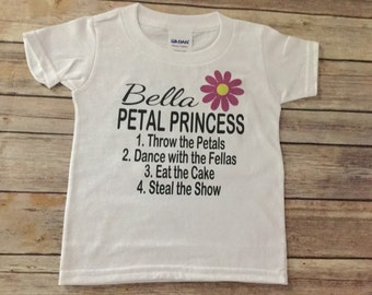 Personalized Petal Princess T Shirt or One Piece (custom text/colors)