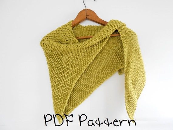 Shawl knitting pattern easy triangle