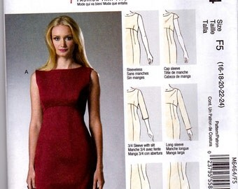 McCalls  PALMER PLETSCH Pattern m6464 Misses 16-24Out Of Print Uncut Factory Folded