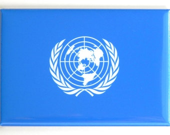 Flag of the United Nations Fridge Magnet (2 x 3 inches)