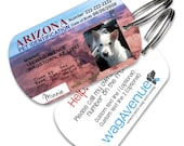 Arizona Driver's License Pet Tag - Personalized Pet Tag, Stainless Steel Pet Tag, Dog ID Tag, Cat ID Tag, Dog Tags for Dogs, Dog License Tag
