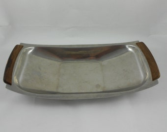 Mid Century Denmark 18/8 Stainless Serving Tray