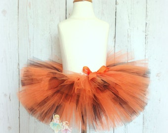 Halloween Tutu- Orange and Black- Super Full- Custom Handmade- Costume