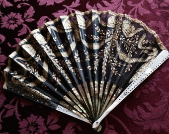 CLEARANCE!!!  Exquisite Antique Duvelleroy Hand Fan