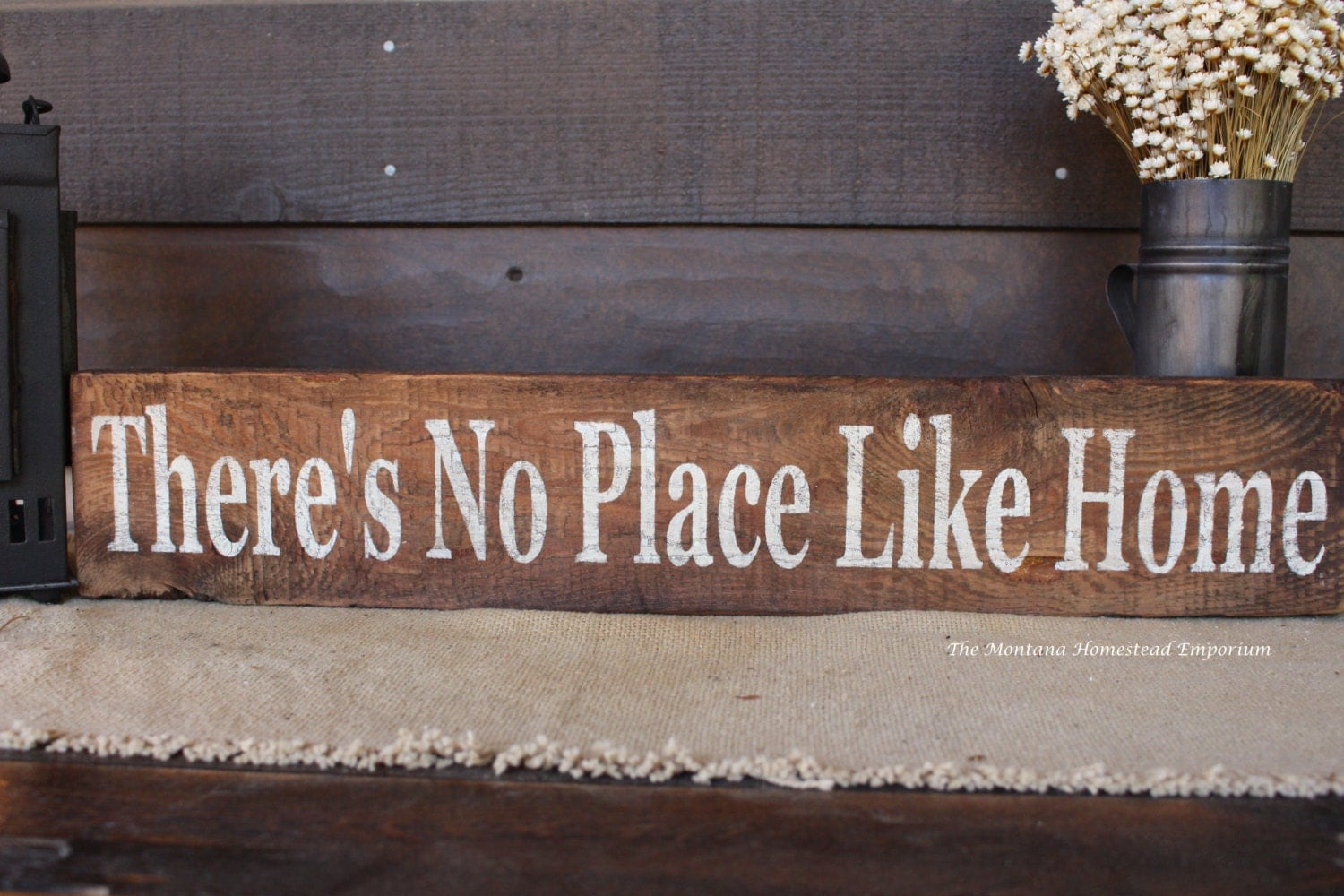 Theres no Place Like Home sign rustic wood by ...