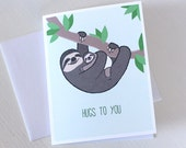 New Baby Card - Sloth Baby Shower Card - Sloth Card