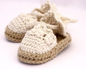 Baby Espadrille Sandals, Crochet Baby Shoes, Baby Girl Sandals - Made to Order