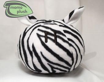 Zebra Stuffed Animal, Toy Zebra, Zebra Decor, Child's Room Decor, Toy, Shower Gift, Safari, Dango Handmade Fiber or Fiber & microbead mix