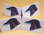 Crow folded gift tags pack of 4 peel-off tags