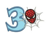 Spiderman Applique Embroidery Design, Applique Number (242) Instant Download