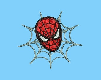 Spiderman Filled Embroidery Design (241) Instant Download
