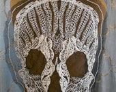 Crocheted Skull Appliques
