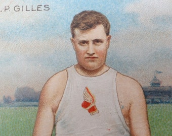 1910 Mecca Cigarette Card, Simon Gilles, Antique New York Athletic Club