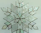 stained glass snowflake suncatcher (design 17)