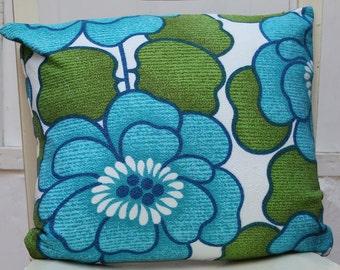 Floral and Chevron Cushion