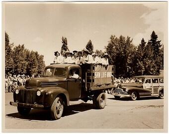 Vintage Parade Photo, Old Truck Photo, Colorado Photo, San Luis Ranch Camp, Colorado Springs Photo, Stewarts Commercial Photographers, Sepia