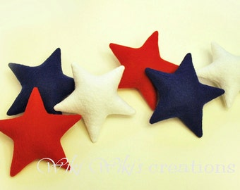 Plush Stars - 6 pack- Pick your colors
