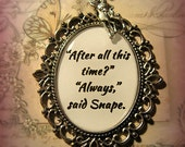 Severus Snape Always (Harry Potter Inspired) Necklace Pendant with Doe Charm