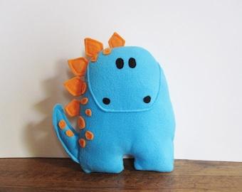 Blue Stegosaurus Dinosaur Stuffed Animal Room Decor