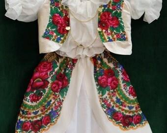 Harajuku dress Pavlovo Dress Girl Flower Dress Gift for Girl Russian girl dress Party Girl Dress Clothing Girls sets