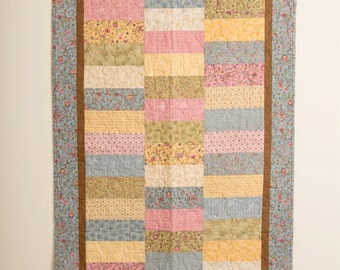 Baby Girl Crib Quilt, Buggy Barn, Butterfly Crib Quilt, Child's Quilt, Nursery Quilt, Baby Blanket, Handmade Quilt, Baby Gift,
