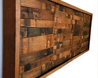 Wine & Bourbon Barrel Wall Art ( Home Decor, Whiskey, Mosaic, Hanging)