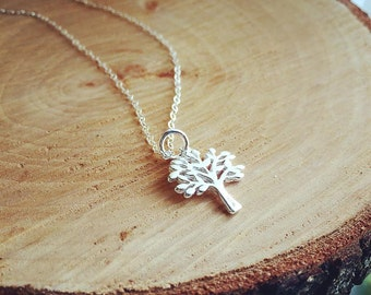 Tree of the Life Necklace, Tree Necklace, Sterling Silver Family Tree Necklace, Family Tree Necklace, Everyday Wear, Delicate Jewelry