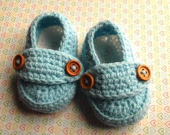 Blue boy shoes, loafer booties, crib shoes, crochet baby shoes,knitted loafers, baby gift, baby boy loafers, UK seller, ready to ship.
