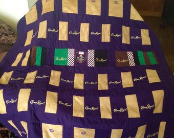 Custom Order Throw Quilt Crown Royal Bags