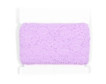 Wholesale Stretch Lace for Headbands - TWO inch wide - 5 or 10  yards - Lavender