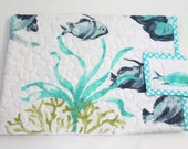 Kindle DX or Microsoft Surface or Surface 2 Cover Bag Quilted Beach Ocean Fish Surface Sleeve