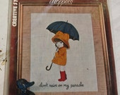 Vogart Moppets Kit Embroidery Thread Included Don't Rain on My Parade<Sale)