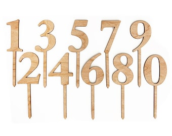 Number Stakes - Perfect for Table Numbers or a Cake Topper