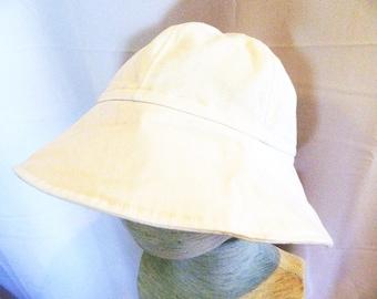 White Summer Sun Hat  - Infant to Preschool