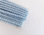 1.1 yards baby blue , 5 mm twist cord, twisted , Wrapped Thread Cord, Satin Twisted cord , Decoration,Fabric Rope Trim Accent for Crafting
