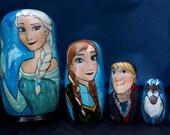 Set of Five Frozen Nesting Dolls