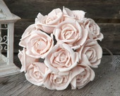 12 Stemmed Sola Rose Blush Pink Light Pink Sola Flower Set of 12 Mint Ivory or Custom