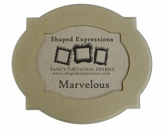 11x14 whimsical picture frame - 'Marvelous' unfinished