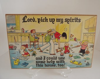 Retro Family Circus Wall Art, Cartoonist Bil Keane, Home Decor, Retro Wall Decor, Laughs For All Ages Circa 1960's