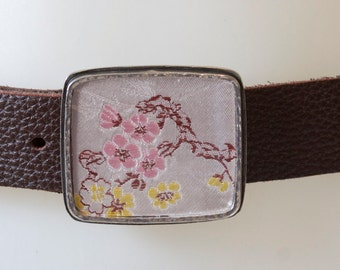 Japanese Flower Buckle with 2 Belts