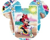 Summer fun Minnie Mouse iron on applique - DIY
