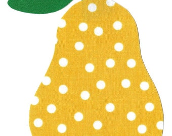 Iron on fabric pear applique DIY
