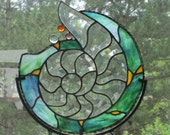 Stained Glass Beveled Shell Cluster