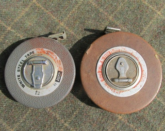 Lot of 2 Vintage 50' Tape Measures